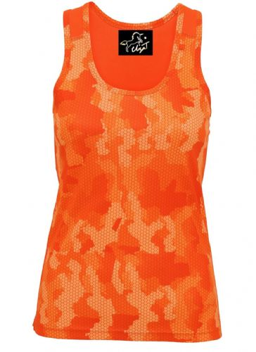 Eliza T Performance Vest - Hot Orange Camo **REDUCED FROM £18